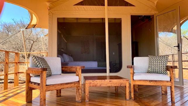 by Zingela Nature Reserve - Baobab Tented Lodge   LekkeSlaap