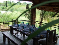 Viewing deck lunch overlooking the Great Letaba River