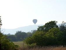 Balloon safaris pass over The Farm House Hartebeestfontein