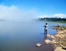 Mountain dam mist