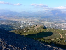 View from Paarl Mountain Nature Reserve above Alba House