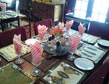 Breakfast table in the mornings