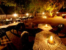 Boma for outside dinners under African skies