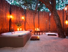 Romantic bathroom setting