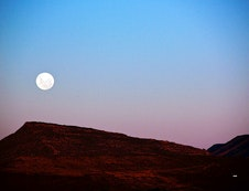 Moon Rising over Karoo View Cottages