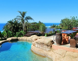 Sundeck, pool, garden and seaview