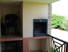 Balcony with built-in Braai