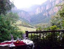 Dinner on the lodge veranda