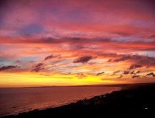 Sunset over Dana Bay