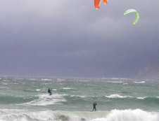 Kite surfing on Long Beach