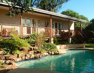 Garden rooms & pool