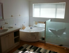 Bath room with spa bath