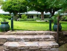 Rooms on garden area