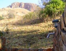 Outdoor stone shower