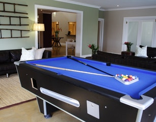 Pool table lounge area
