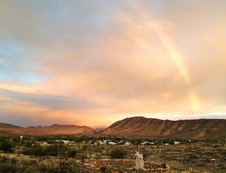 Karoo View Cottages view over village after rain