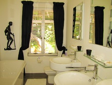 The newly refurbished bathroom
