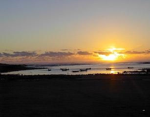 sunset on the Kom