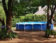 Splash pool for your personal enjoyment at The Farm House Hartebeestfontein