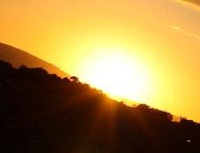 Sunset over Eagles Nest Estate Guest House