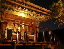 verandah in the evening