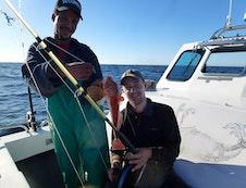 Deep sea fishing with a fish braai later.