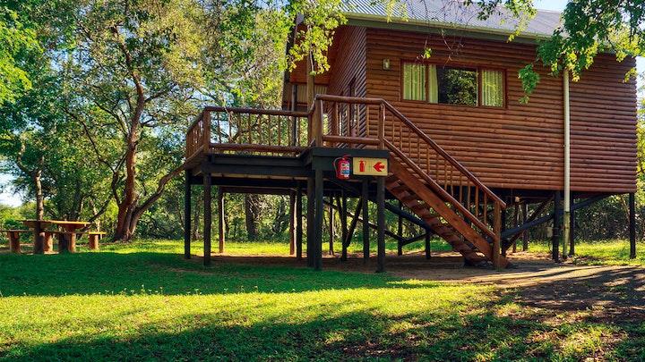 at Bonamanzi Game Reserve - Rustic 2 Sleeper Tree Houses   TravelGround